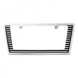 AMI® - Tapered Edge Grille Style Brushed License Plate Frame