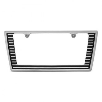 AMI® - Tapered Edge Grille Style Polished License Plate Frame