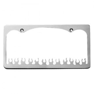 AMI® - Flame Style Brushed License Plate Frame