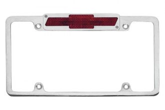 AMI® - Plain Style License Plate Frame with Bowtie Tag