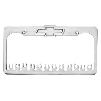AMI® - Flame Style License Plate Frame with Bowtie Tag