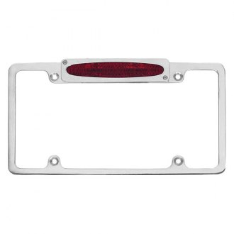 AMI® - Plain Style License Plate Frame with Oval Light