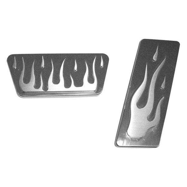 AMI® - Flame Style Polished Billet Pedal Pads