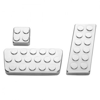 AMI® - Circles Style Polished Billet Pedal Pads