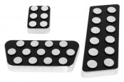 AMI® - Circles Style Black Powder Coated Billet Pedal Pads