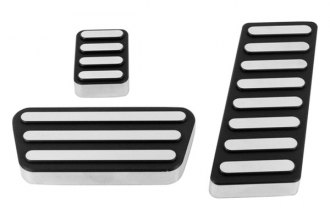 AMI® 91LK - Lined Style Black Powder Coated Billet Pedal Pads