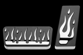 AMI® - Flame Style Polished Solid Billet Pedal Pads