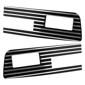 AMI® - Grille Style Polished Driver and Passenger Side Bumper Inserts