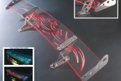 AMI® - Adjustable Tribal Style G-Wing Lighted Rear Spoiler with Formula Side Wings