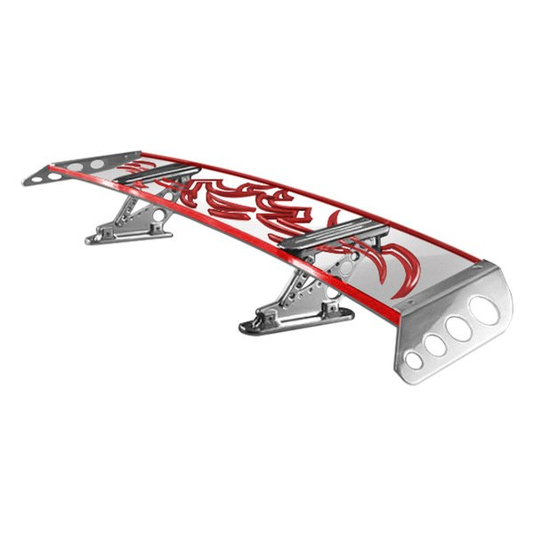"AMI® - Universal Adjustable Tribal G-Wing Lighted Rear Spoiler with Formula Side Wings (6"")"