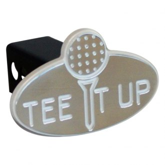 "AMI® - Polished Tee It Up Hitch Cover for 2"" Receivers"