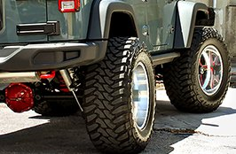 AMP® - Terrain Master M/T Tires on Jeep Wrangler - Back View
