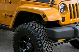 AMP® - Terrain Master M/T Tires with Fuel Wheels on Jeep Wrangler Rubicon