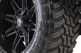 AMP® - Terrain Master M/T Tires on Car