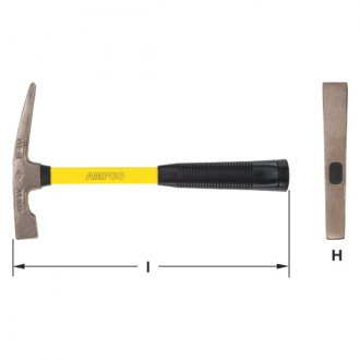 "Ampco® - 1.5 lbs. 14""L Bricklayers' Hammer"