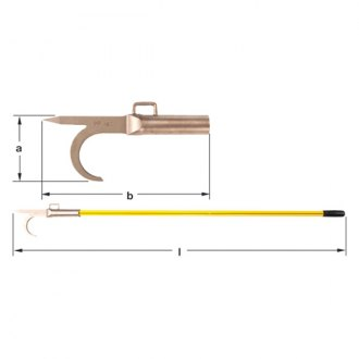 "Ampco® - 72"" Oal Pike Pole"