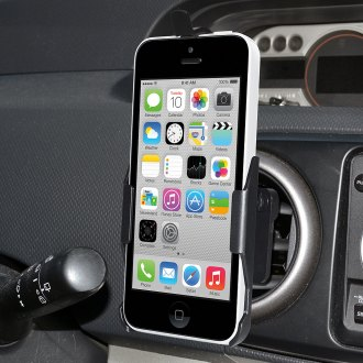 Amzer® - Swiveling Air Vent Black Mount for iPhone 5C