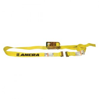 "Ancra® - E Series Heavy Duty Ratchet Buckle Strap with Spring End Fitting and 48"" Fixed End"