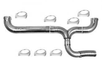 Ansa® - Silverline™ 409 SS Dual Polished Exhaust Stack Base