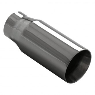 "Ansa® - Silverline™ 304 SS Round Beveled Edge Weld-On Exhaust Tip (2.25"" ID, 3"" OD, 7"" Length)"
