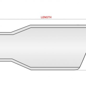 "Ansa® - Silverline™ 304 SS Diesel Difuser Round Angle Cut Exhaust Tip (4"" ID, 6"" OD, 14.5"" Length)"