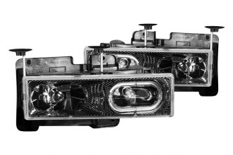Anzo® - Carbon Fiber Halo Headlights with LEDs