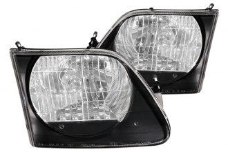 Anzo® - Black Euro Headlights G2