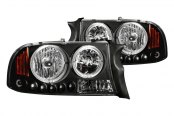 Anzo® - Black CCFL Halo Headlights with LEDs