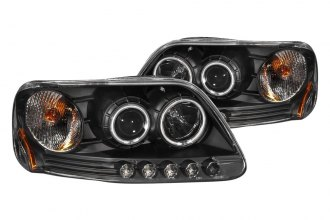 Anzo® 111097 - Black CCFL Halo Projector Headlights with LEDs