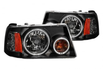 Anzo® - Black CCFL Halo Headlights with LEDs and Amber Reflector