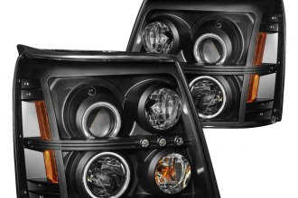 Anzo® 111175 - Black CCFL Halo Projector Headlights