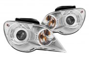 Anzo® - Chrome CCFL Halo Projector Headlights