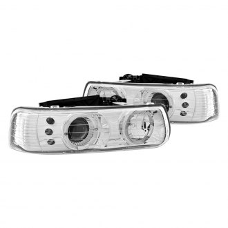 Anzo® - Chrome Halo Projector Headlights with LEDs