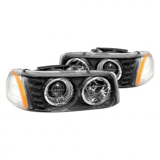 Anzo® - Black Halo Projector Headlights