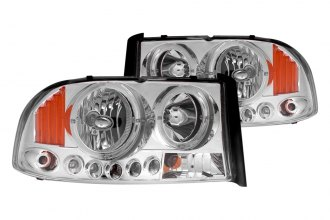 Anzo® - Chrome Halo Headlights with LEDs and Amber Reflector