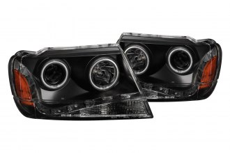 Anzo® - Black Halo Projector Headlights G2
