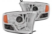 Anzo® - U-Bar Style Chrome Projector Headlights