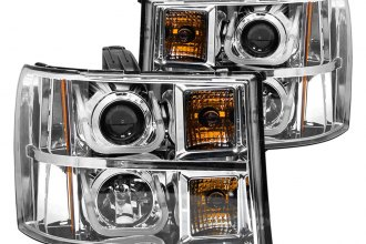 Anzo® - Chrome U-Bar Style Projector Headlights