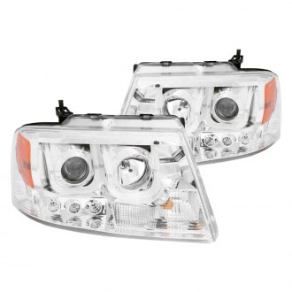 Anzo® - Chrome U-Bar Projector LED Headlights