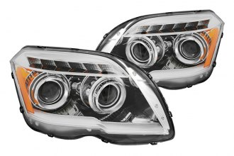 Anzo® - Chrome Plank Style Projector Headlights with LEDs