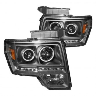 Anzo® - Black CCFL Halo Projector Headlights with LEDs G2
