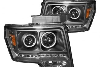 Anzo® - Black CCFL Halo Projector Headlights G2
