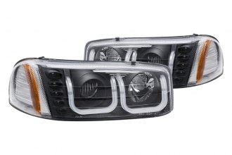 Anzo® - Black U-Bar Style Projector Headlights