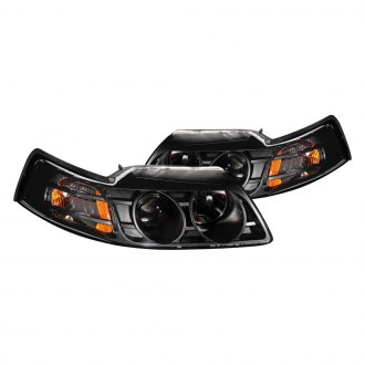 Anzo® - Black Projector LED Headlights with Amber Reflector