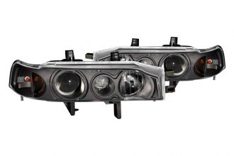 Anzo® - Black Projector Headlights