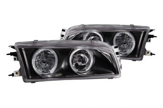 Anzo® - Black Halo Headlights with LEDs