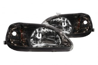 Anzo® - Chrome Gun Metal Gray Euro Headlights
