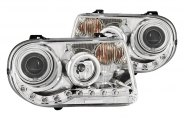 Anzo® - Chrome CCFL Halo Projector Headlights G2 with LEDs