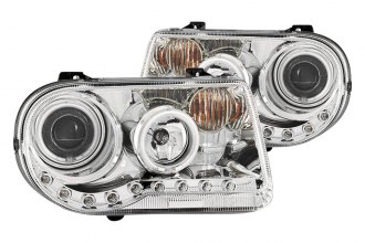 Anzo® - Chrome CCFL Halo Projector Headlights with LEDs G2