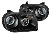 Anzo® - Black CCFL Halo Projector Headlights with LEDs Gen 2